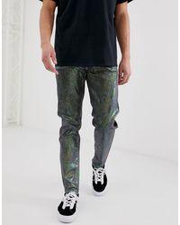 Reclaimed (vintage) The '89 Original Fit Jeans - Metallic