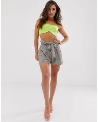 PrettyLittleThing Belted Floaty Shorts - Multicolour