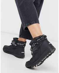 Sorel Черные Водонепроницаемые Ботинки -черный