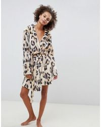 ASOS - Leopard Super Soft Robe With Ears - Lyst