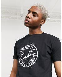 The Couture Club – Bedrucktes T-Shirt - Schwarz