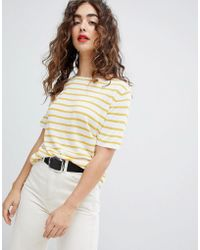 Mango - Premium Breton Top In Yellow Stripe - Lyst