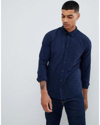 Blend - Slim Fit Shirt With Micro Dot Print - Lyst
