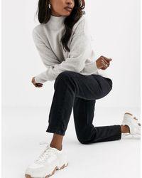 Miss Selfridge Mom Jeans - Black