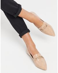 Miss Selfridge Loafers With Pointed Toe - Pink
