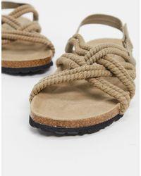 Pull&Bear Rope Sandal - Natural