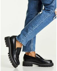 SELECTED Femme Leather Loafers - Black