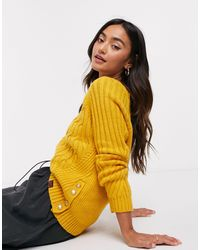 Superdry Hester Cable Jumper - Yellow