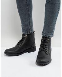 Brave Soul Milled - Bottines à lacets - Noir