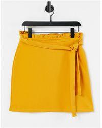 Lipsy Paperbag Waist Skirt - Yellow
