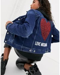 Love Moschino Джинсовая Куртка -темно-синий