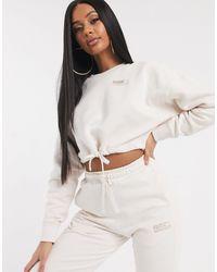 PUMA Heavy Fleece Cropped Sweatshirt Pastel Parchment-beige - Multicolour