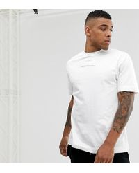 75acbfe45b6eaf Lyst - Love Moschino T-shirt With Box Logo In White in White for Men