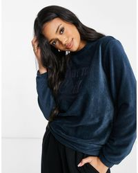 Hunkemöller Ready To Chill Ribbed Velour Lounge Sweat - Green