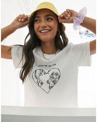 Miss Selfridge 'love Me Better' T-shirt - White