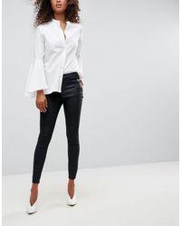 "ASOS - ""Sculpt Me"" - Jeans premium rivestiti di nero - Lyst"