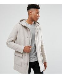 SELECTED - Tall Wool Parka With Padded Lining - Lyst
