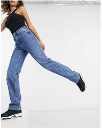 Weekday Voyage High Waist Straight Leg Jeans - Blue