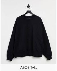 ASOS ASOS DESIGN Tall - Sweat-shirt cocon ultra oversize à empiècements - Noir