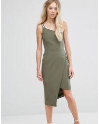 Oh My Love - One Shoulder Midi Dress - Lyst