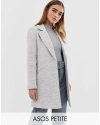 ASOS Фактурное Приталенное Пальто - Серый