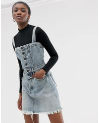 Cheap Monday - Organic Cotton Mini Dungaree Dress - Lyst