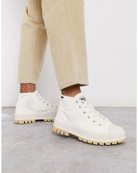 Palladium Кремовые Ботинки Средней Высоты -белый