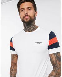 Jack & Jones Originals - T-shirt Met Kleurvlakken En Logo - Wit