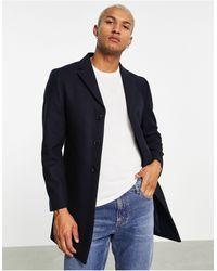 Rudie Premium Wool Blend Overcoat - Blue