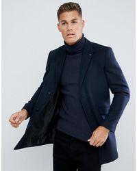 Burton Overcoat - Blue