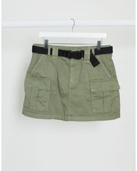 American Eagle Utility A-line Skirt - Green