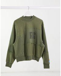 Russell Athletic Fleece Patchwork Sweatshirt - Green