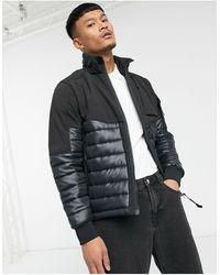 C.P. Company Черная Куртка Из Мягкого Материала С Линзой На Рукаве C.p. Company-черный