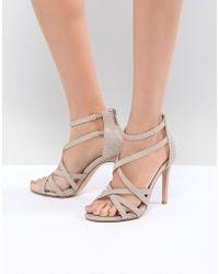 True Decadence Light Sparkle Strappy Sandals - Metallic