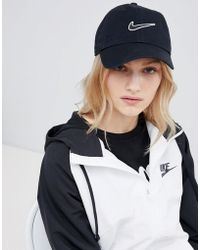 Nike - Swoosh Cap In Black - Lyst