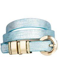 ASOS Chunky Metal Keeper Waist Belt - Blue