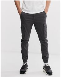 Jack & Jones Intelligence Cuffed Cargo Trouser - Grey