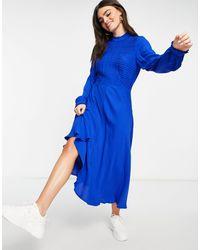 Ghost Синее Платье Una-голубой - Синий