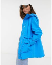 J.Crew Perfect Hooded Rain Jacket - Blue