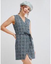 UNIQUE21 - Unique 21 Sleeveless Blazer Dress In Textured Tweed - Lyst