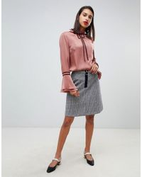 MAX&Co. - 60's Mini Skirt In Check - Lyst
