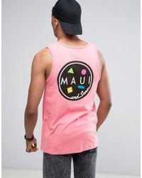 Maui & Sons Maui Cookie Logo Tank - Pink