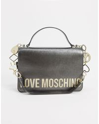 Love Moschino Темно-серая Сумка На Плечо Со Звездой, Сердцем И Пацификом -серебристый - Металлик