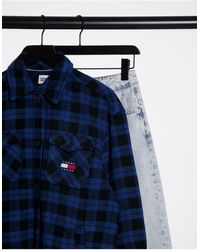 Tommy Hilfiger Flannel Overshirt - Black