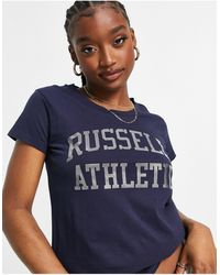 Russell Athletic – t-shirt - Blau