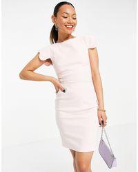 Vesper Бледно-розовое Платье Мини С Фигурными Рукавами Poppy-розовый Цвет