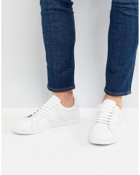 Fred Perry - B721 Leather Trainers In White - Lyst