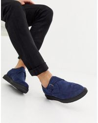 Truffle Collection Pointed Creeper Shoe In Navy - Blue