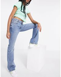 New Look Low Rise Flare Jeans - Blue