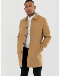 ASOS Wool Mix Coat - Natural
